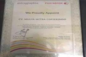 sertifikat reseller resmi Fujixerox melalui PT Astragraphia